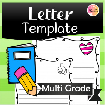 Blank Letter Template by Middle Years Munchkins TpT