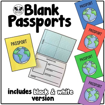Blank Passport Template by Blue Bees Workshop Teachers Pay Teachers