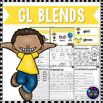 L Blends Worksheets - Gl Blend Words by Little Achievers TpT