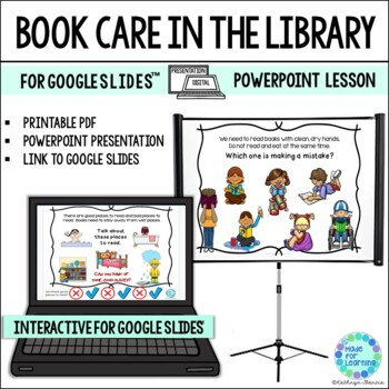 Book Care Powerpoint Library Skills Lesson TpT - powerpoint books