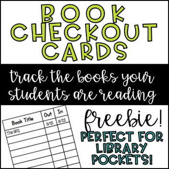 Book Check Out Cards by Laughter Love and Learning TpT