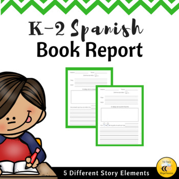 Book Report (Spanish) by Yuli Bee's Bilingual Resources | TpT