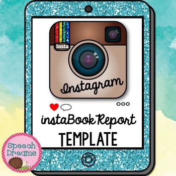 Instagram Book Report Template {Reading Classroom Fun} by Speech Dreams