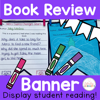 Book Report Template For Book Review Banner Pennant by Library Learners - book reviews template
