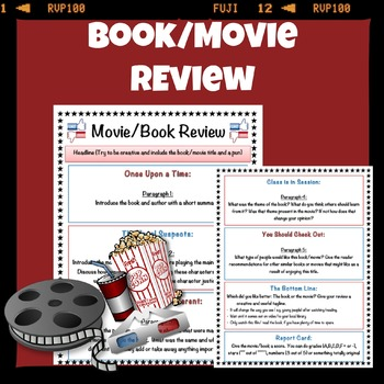 Book/Movie Review Template by mskcpotter Teachers Pay Teachers
