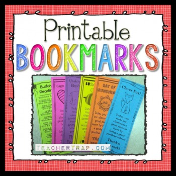 Printable Bookmarks  Worksheets Teachers Pay Teachers