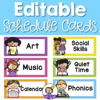 Editable Schedule Cards - Visual Daily Timetable by Lightbulb