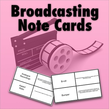 Broadcasting Terms Note Cards by A Touch of Technology TpT