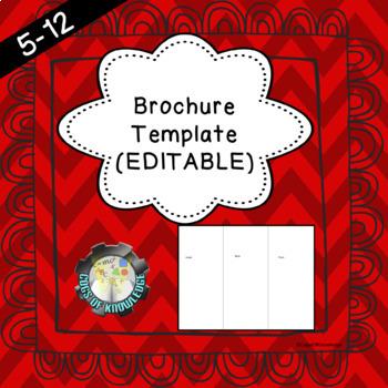 Brochure Template Powerpoint Teaching Resources Teachers Pay Teachers
