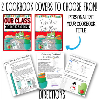 COOKBOOK TEMPLATE IN GOOGLE SLIDES™ by The Techie Teacher TpT