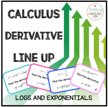 Calculus Derivative of Natural Log and Exponential Functions Line