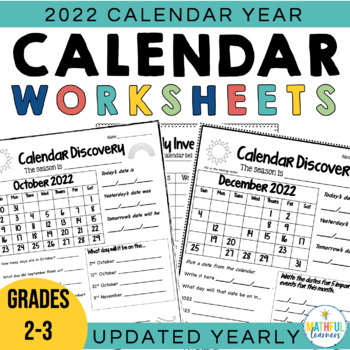 Calendar Worksheets - January to December by Alison Hislop TpT
