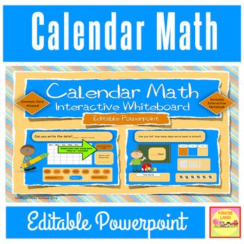 Calendar Math Interactive / Smart Board Editable Powerpoint \ - theme powerpoint for kids