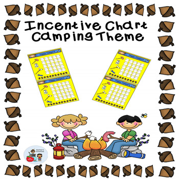 Camping Theme Incentive Sticker Chart by Kestner\u0027s Kreations Primary
