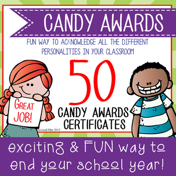 Candy Award Certificates - editable MS Word and PDF by ARTrageous Fun - award certificates pdf