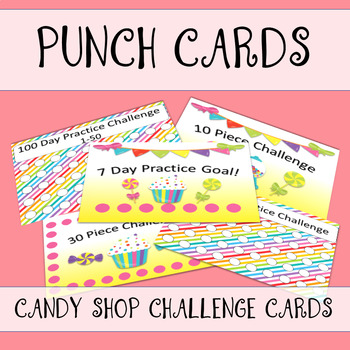 Candy Shop Punch Cards by The Imaginative Music Studio TpT - punch cards
