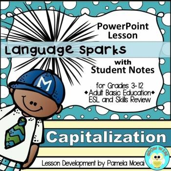 Capitalization PowerPoint and Student Notes Newly Revised by Pamela - esl powerpoint lesson