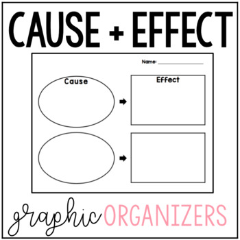 Cause And Effect Graphic Organizer  Worksheets TpT