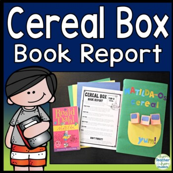 Cereal Box Book Report Directions, Rubric  Example Photos TpT