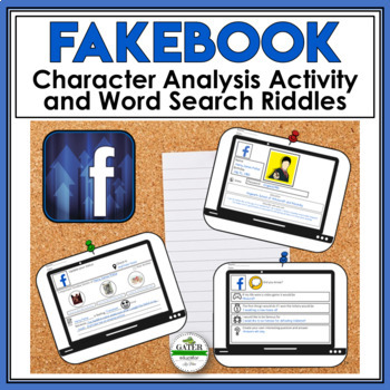 Character Traits Graphic Organizer Facebook Style Template TpT