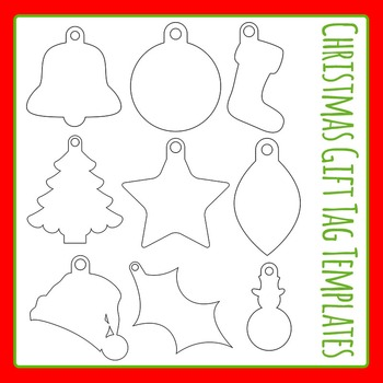 Christmas Gift Tag Templates Commercial Use Clip Art Set by Hidesy\u0027s
