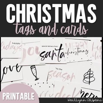 Christmas Gift Tags  Thank You Cards - PRINTABLE by Kaitlynn Albani