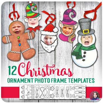 Christmas Ornament Craft Photo Frame Templates for Elementary by