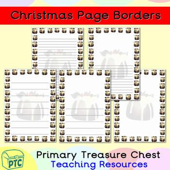 FREE Christmas Puddings Page Border/Writing Frames TpT