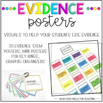 Citing Evidence Posters by Joanne Miller Teachers Pay Teachers