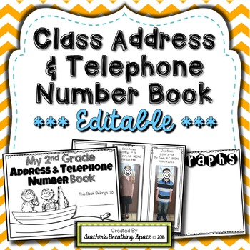 Address Phone Number Worksheets  Teaching Resources TpT