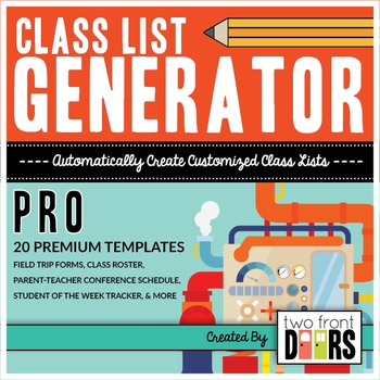 Class List Generator PRO by Primary Prism Teachers Pay Teachers