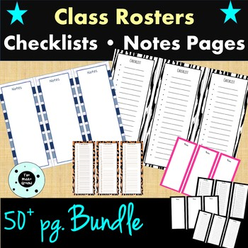 Class Roster Bundle - Checklist - Notes Pages - RTI - Presentations
