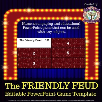 Family Feud Powerpoint Game Templates Teaching Resources Teachers