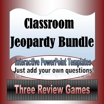 Classroom Jeopardy Template Bundle by Miss Sherrell\u0027s Game Station