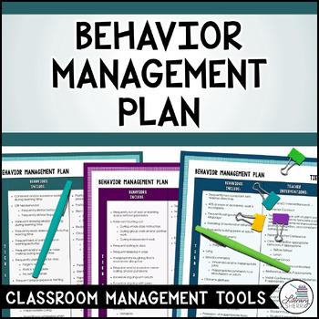 CLASSROOM MANAGEMENT Behavior Management Plan by Literary Sherri