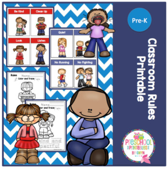 Classroom Rules Printable by Preschool Printable TpT