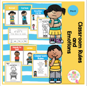 Classroom Rules and Emotions by Preschool Printable TpT
