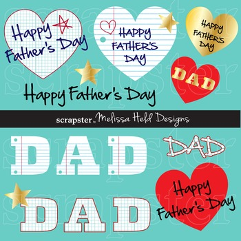 Father\u0027s Day Clip Art with Graph and Loose Leaf Paper Backgrounds - loose leaf paper background