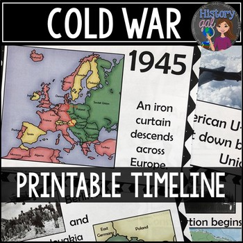 Cold War Timeline {A Printable for Your Classroom} by History Gal
