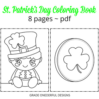 Coloring Book St Patrick\u0027s Day by Grade ONEderful Designs TpT