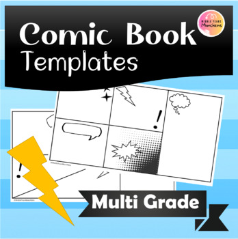 Comic Book Template by Middle Years Munchkins Teachers Pay Teachers