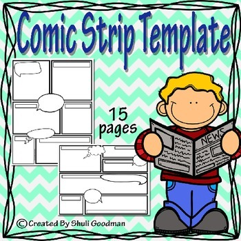 Comic Strip Template by CloudySkiesSunnyMoments Shuli Goodman TpT - comic strip template