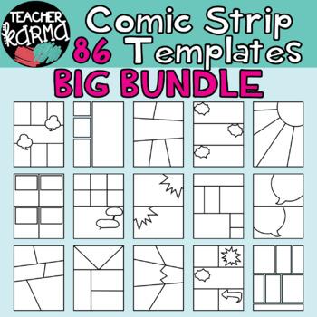 Comic Strip Template BUNDLE - 86 PCS - Comic Book by Teacher Karma