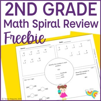 2nd Grade Math Spiral Review 2nd Grade Math Warm Up 2nd Morning