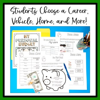 5th Grade Math Project Based Learning Create a Personal Budget TpT