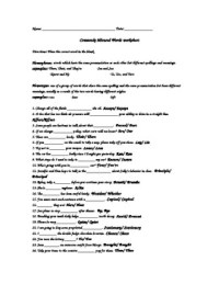Misused Words Worksheet - Calleveryonedaveday