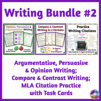 Compare  Contrast Writing, Opinion  Persuasive Writing, MLA - mla source format