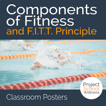 Components of Fitness  FITT Principle Posters - Health and PE Posters - health components