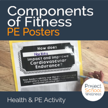 Components of Fitness - PE Activity Posters (Middle School PE, Wellness)