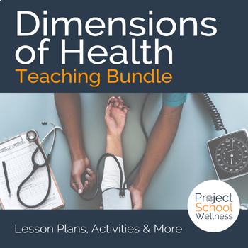 Components of Health Bundle - - Middle School Health Lesson Plans - health components